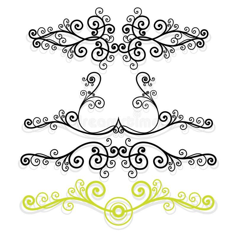blom- linjer vektor illustrationer