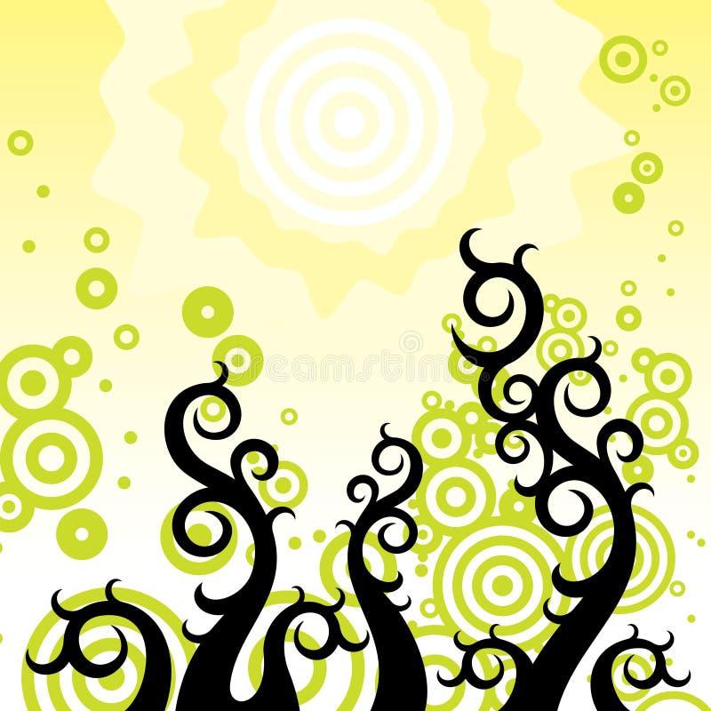 blom- linjer royaltyfri illustrationer