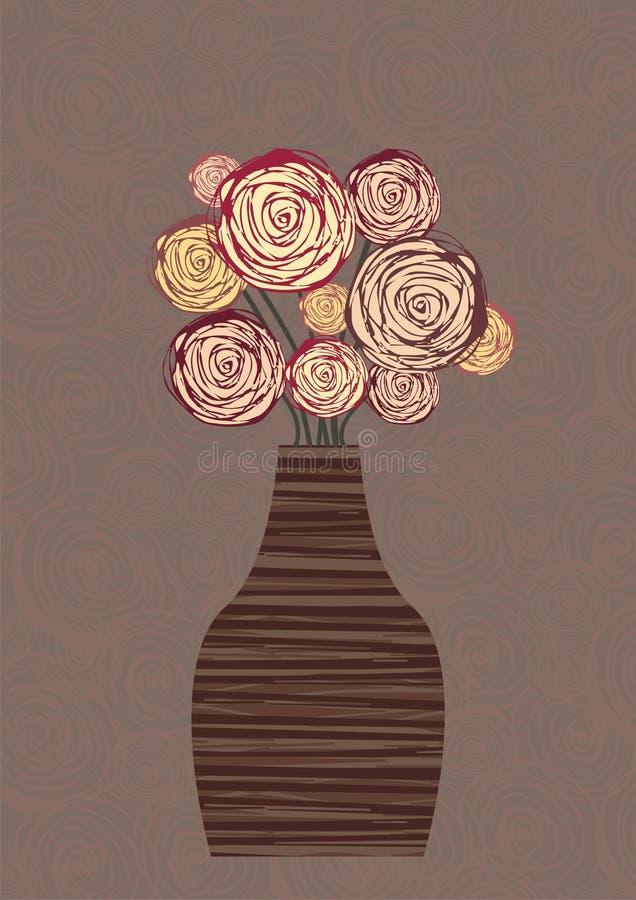 blom- livstid fortfarande royaltyfri illustrationer