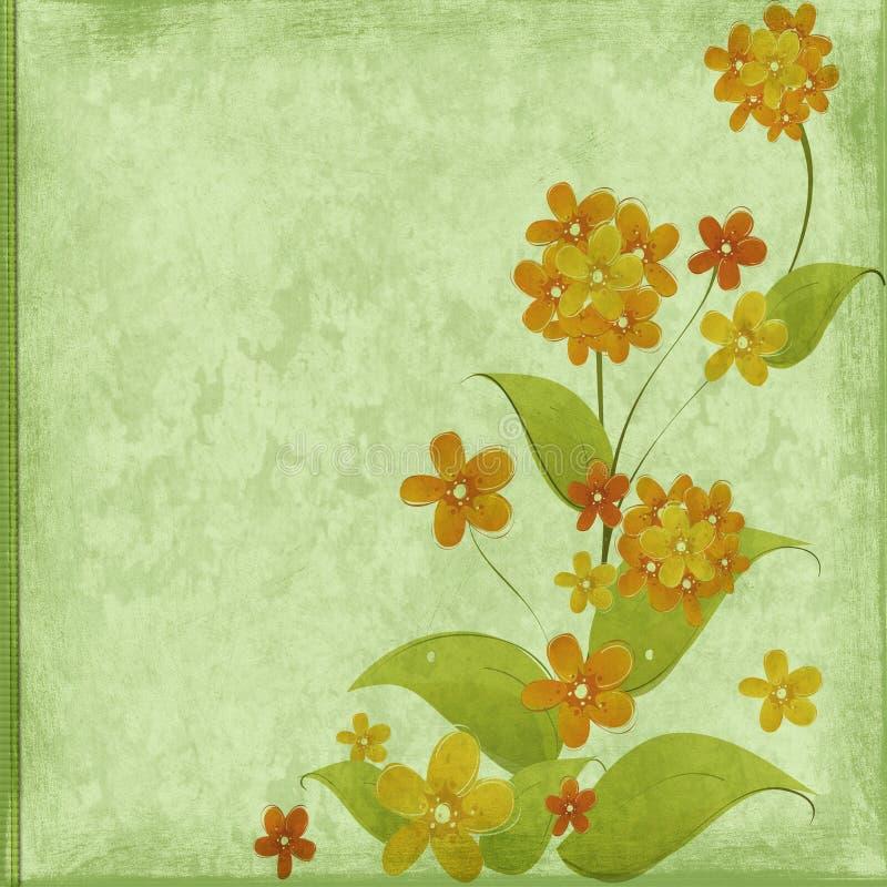 blom- lyckönskan stock illustrationer