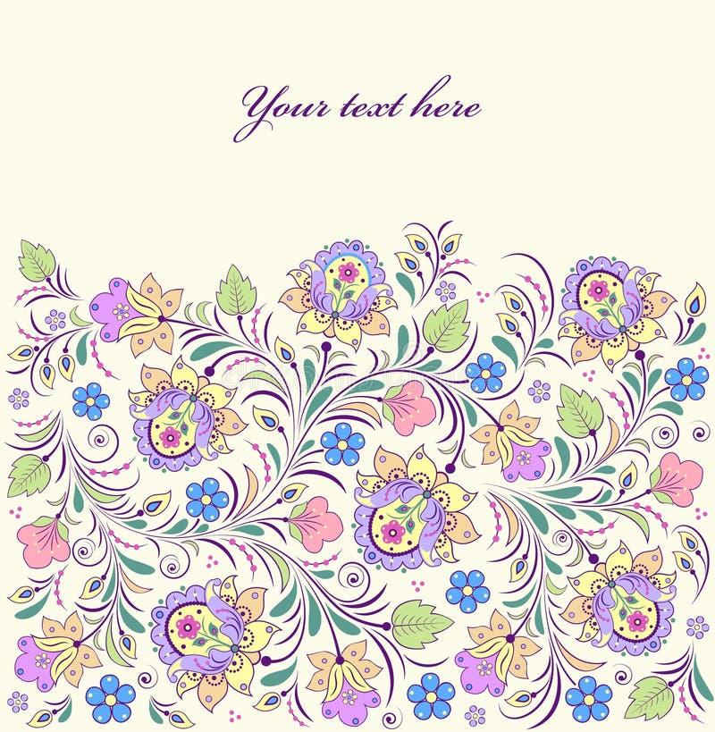 Blom- mönstra royaltyfri illustrationer