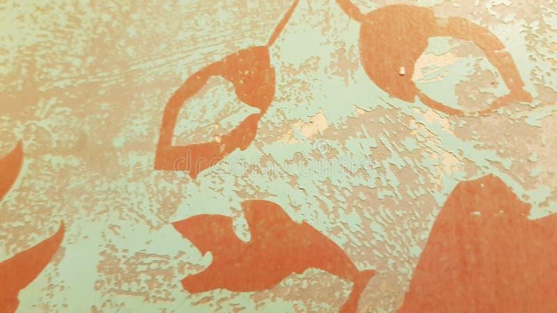 Blom- mönstrad abstrakt bakgrund för Retro stil arkivbilder