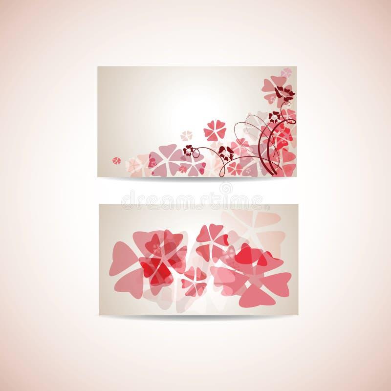 blom- mall för affärskort stock illustrationer