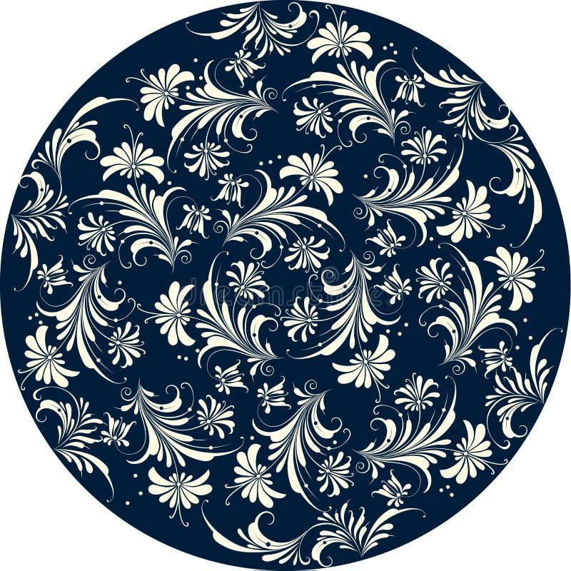 blom- modell för cirkel royaltyfri illustrationer