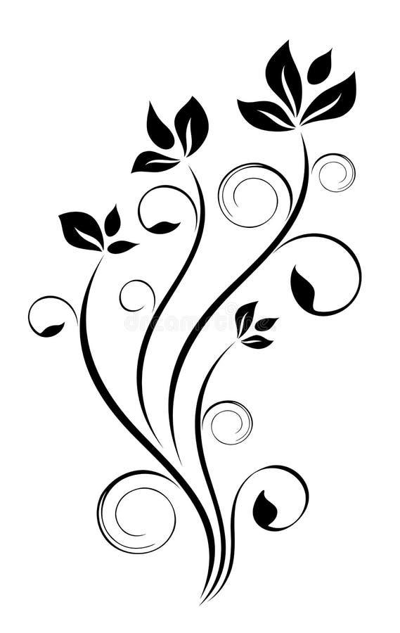 blom- modell för design stock illustrationer