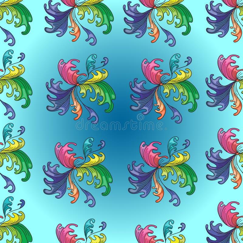 Blom- modell för färgrik abstrakt bakgrund stock illustrationer