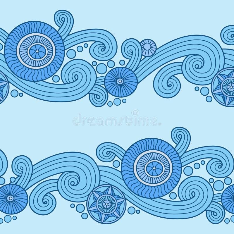 Blom- modell för klotter i blått stock illustrationer