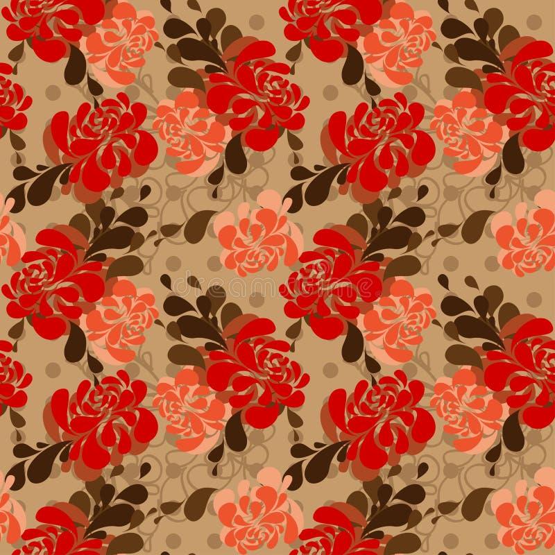 Blom- modell i folkloric stil och ljusa färger stock illustrationer