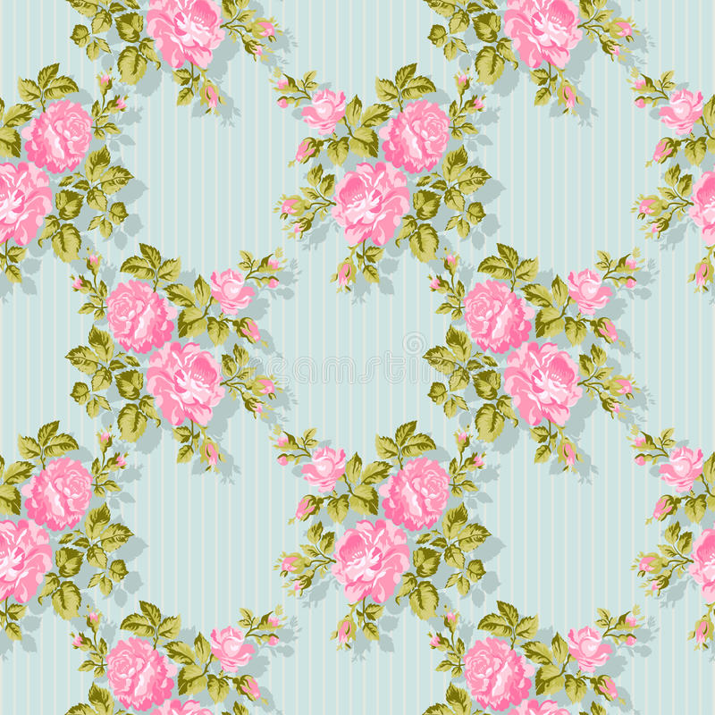 Blom- modell med rosa rosor den blom- bakgrundsdesignen använder idealt den din vektorn Lätt att redigera Perfect för inbjudninga royaltyfri illustrationer