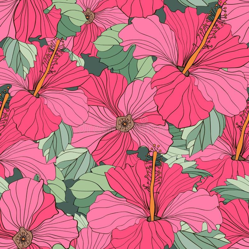 Blom- modeller för sömlös vektor stock illustrationer