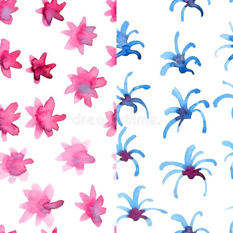 Blom- modeller för vattenfärg stock illustrationer