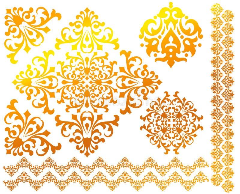 blom- modeller ställde in vektorn royaltyfri illustrationer