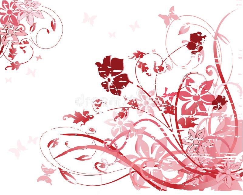 blom- modellpink vektor illustrationer