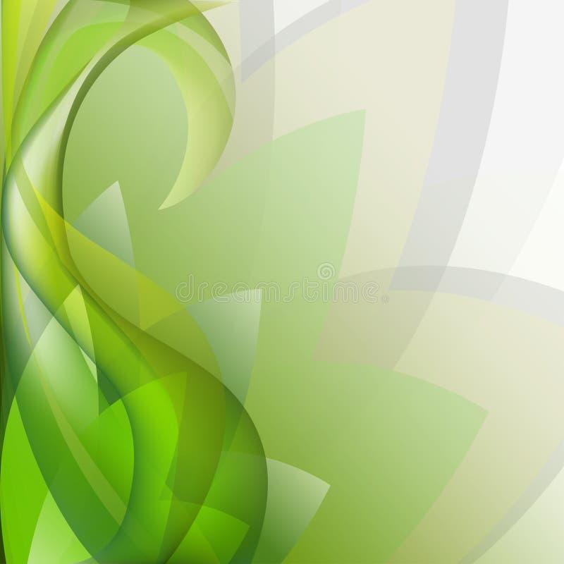 Blom- modelltryck för abstrakta färgrika eleganta vågor, kopieringsutrymme stock illustrationer
