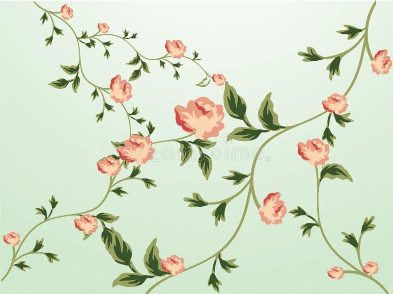 blom- modellwallpaper stock illustrationer