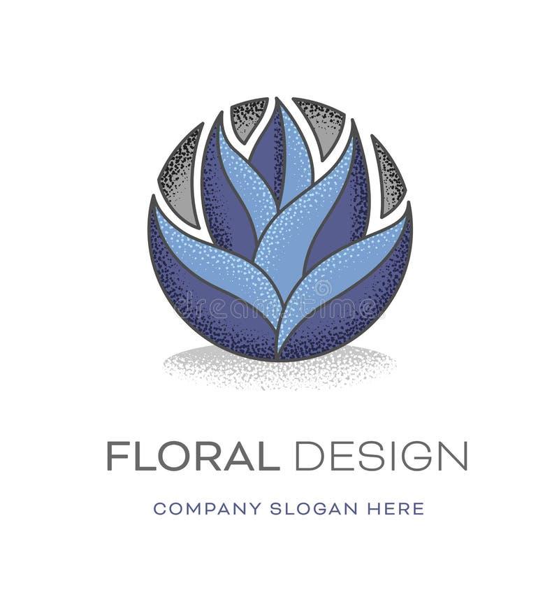 Blom- modern logodesign vektor illustrationer