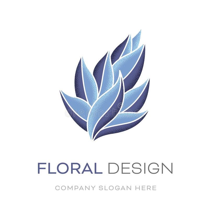 Blom- modern logodesign stock illustrationer