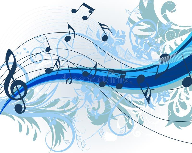 blom- musik stock illustrationer