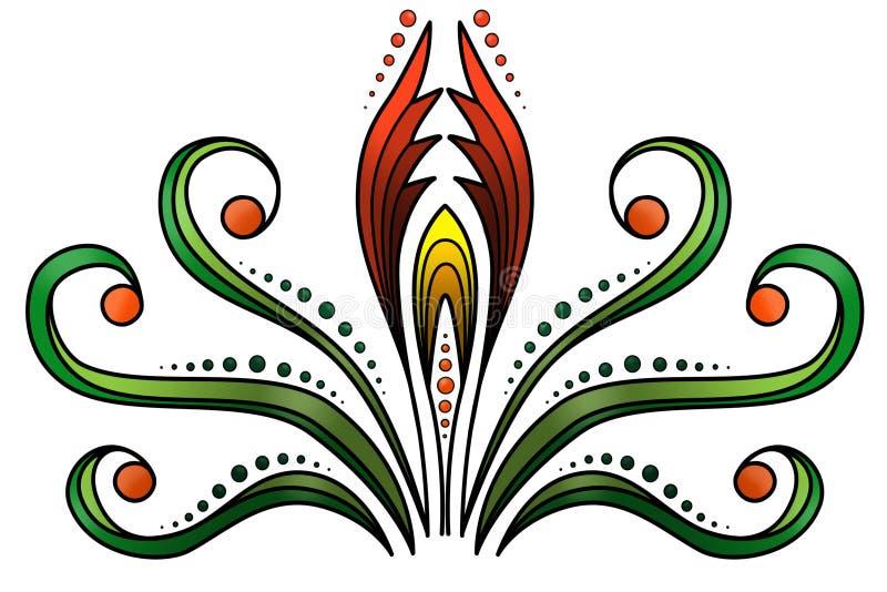 Blom- och dekorativ bakgrund arkivfoto
