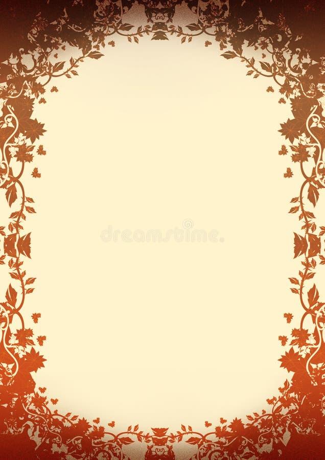 blom- oenamental för bakgrund royaltyfri illustrationer