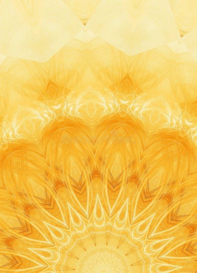 blom- orange royaltyfri illustrationer