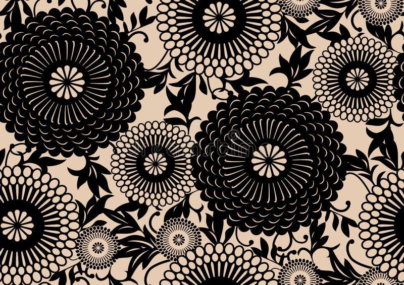 blom- orientalisk modell royaltyfri illustrationer