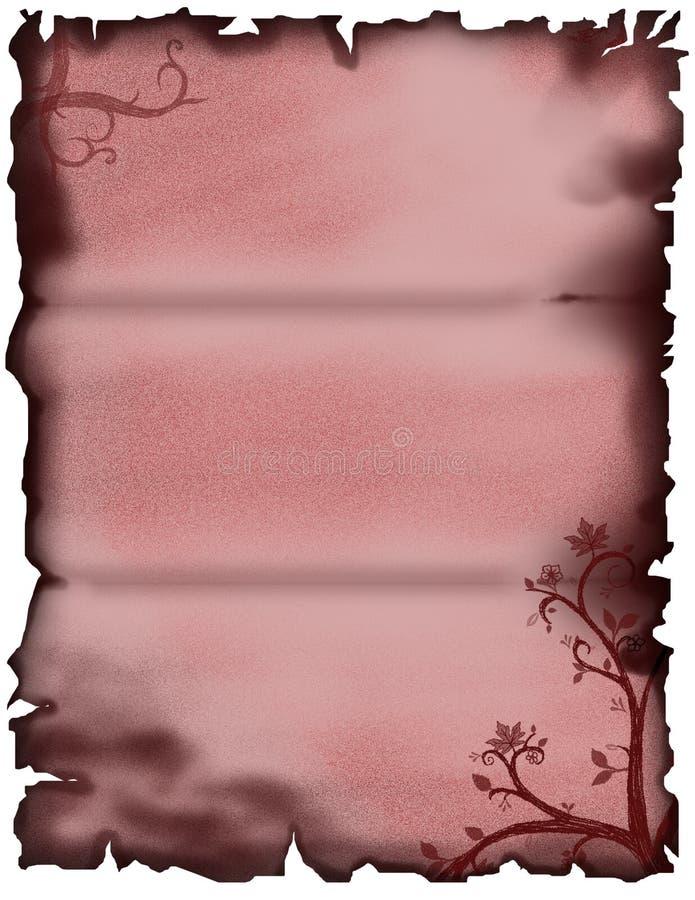 blom- parchment vektor illustrationer