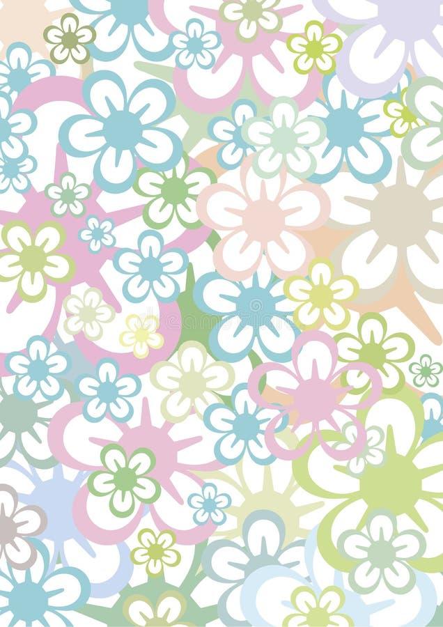 blom- pastell för bakgrund vektor illustrationer