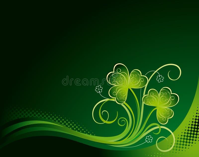 blom- patrick för bakgrund shamrock vektor illustrationer