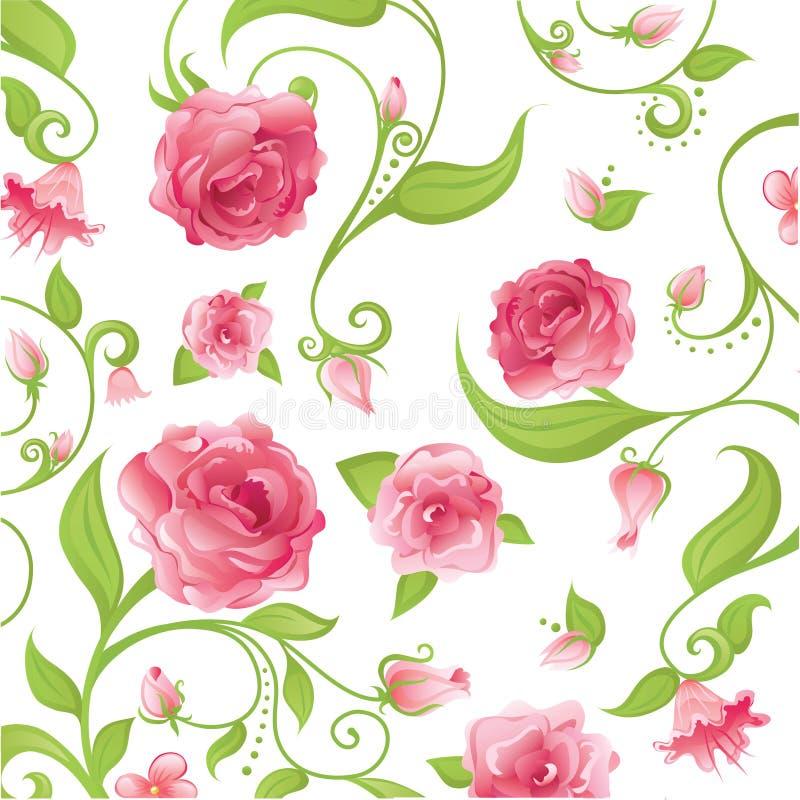 blom- pink stock illustrationer