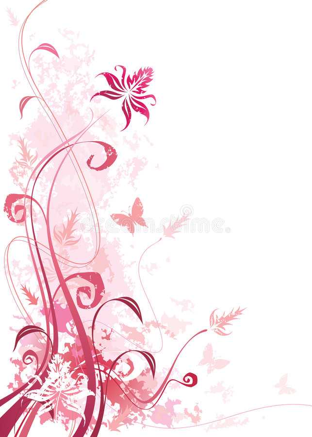 blom- pink vektor illustrationer