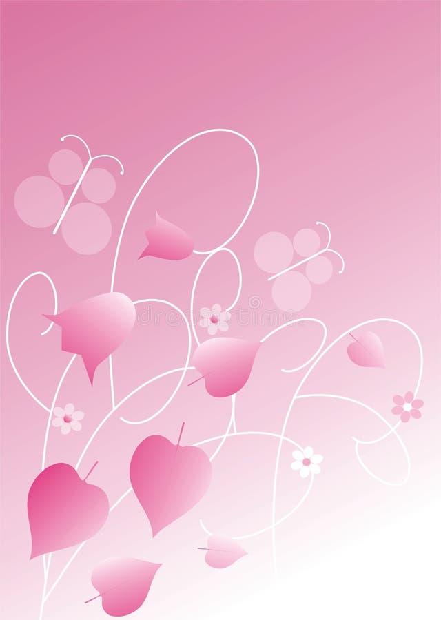 blom- pink för bakgrund vektor illustrationer