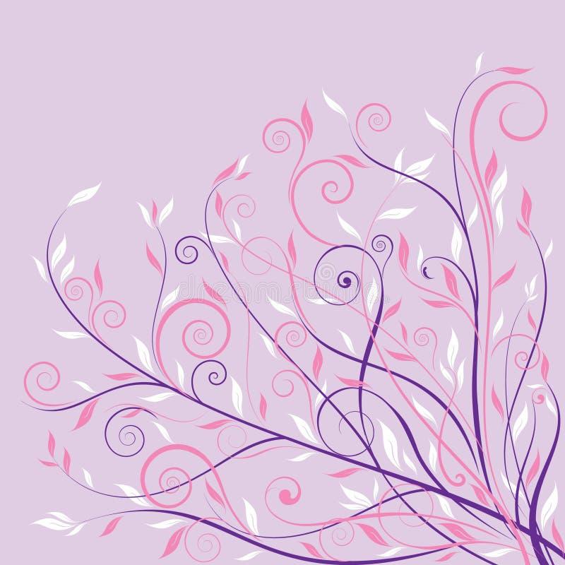blom- pink för bakgrundsdesign stock illustrationer