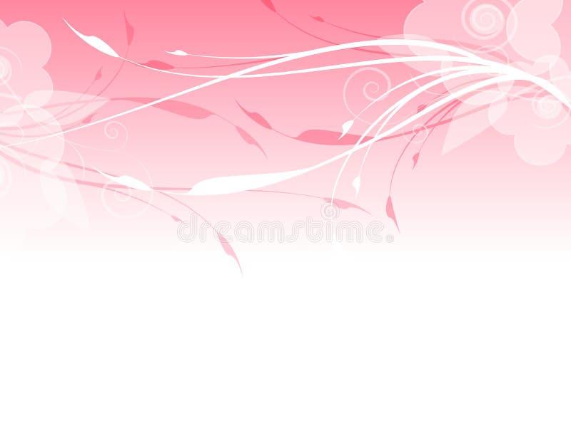 blom- pink för bakgrundskant stock illustrationer