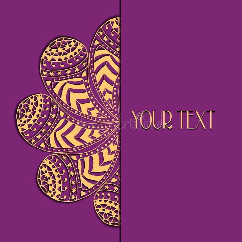 Blom- prydnad för abstrakt vektorcirkel vektor illustrationer