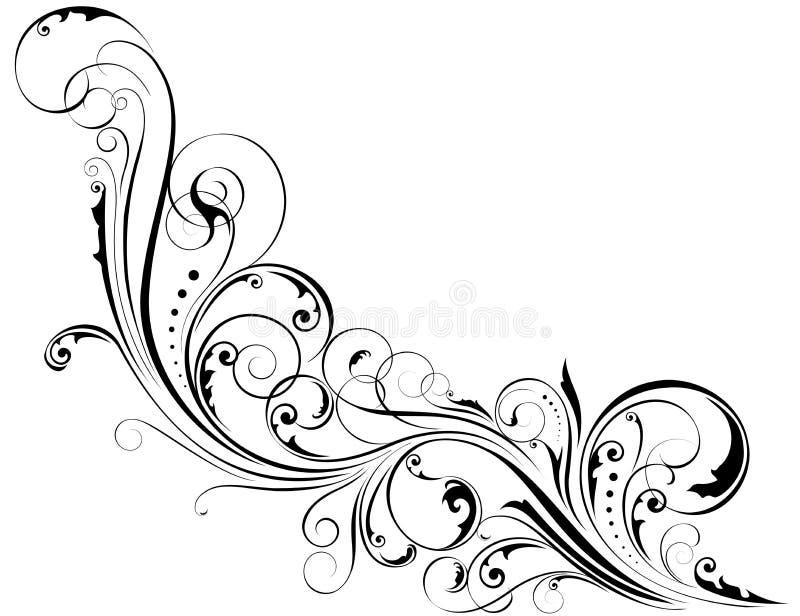Blom- prydnad för hörn royaltyfri illustrationer