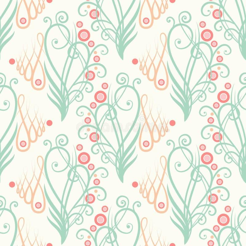 Blom- prydnad för sömlös tappning vektor illustrationer