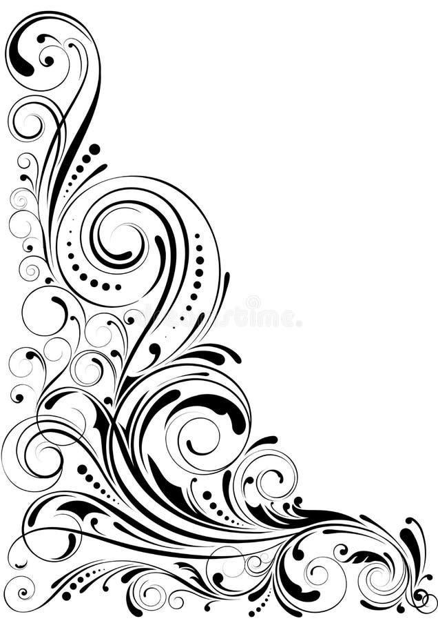 Blom- prydnad för virvel vektor illustrationer