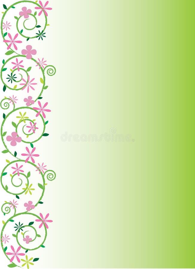blom- prydnadfjädervektor vektor illustrationer