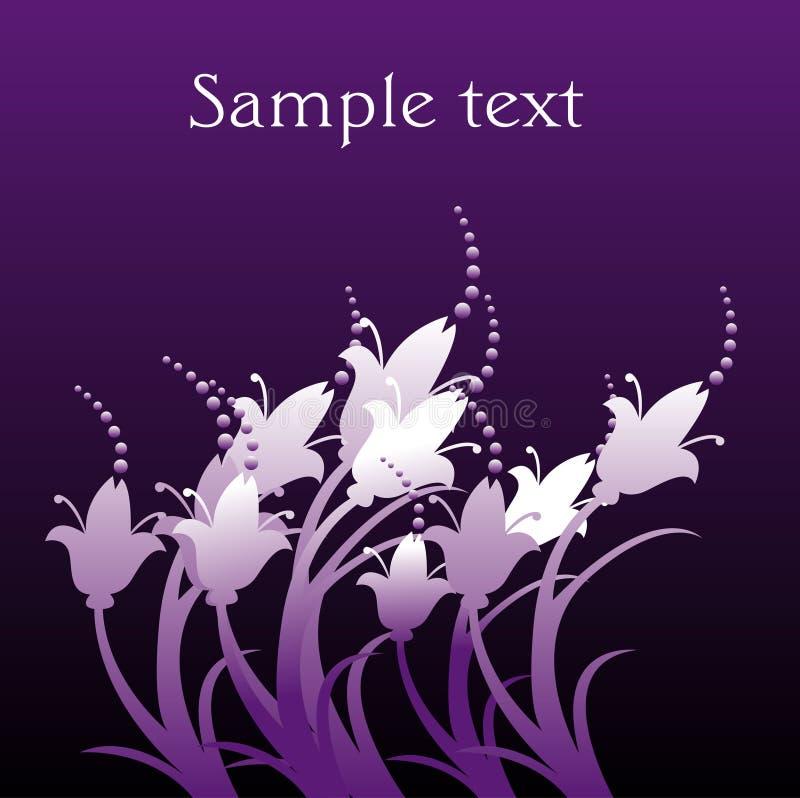 blom- purple för bakgrund royaltyfri illustrationer