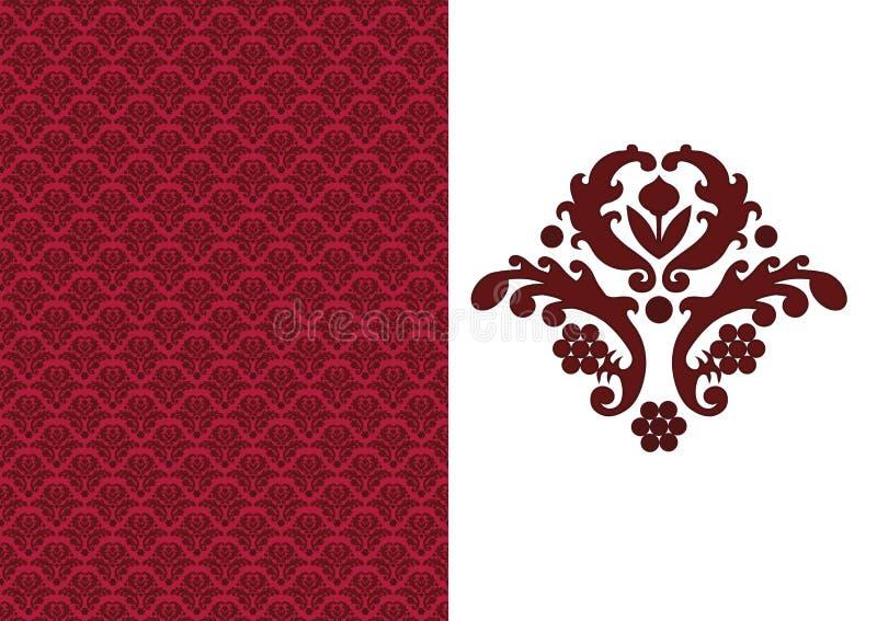 blom- röd seamless wallpaper vektor illustrationer