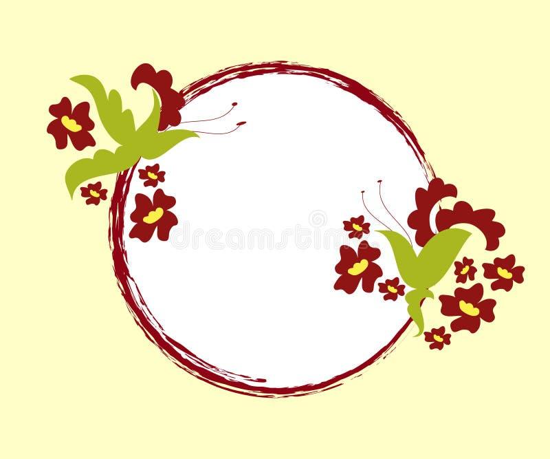 blom- ram royaltyfri illustrationer