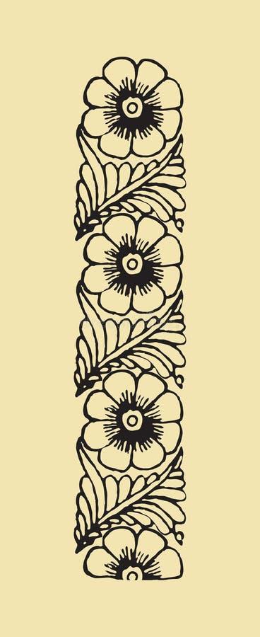 blom- ram för abstrakt designelement royaltyfri illustrationer