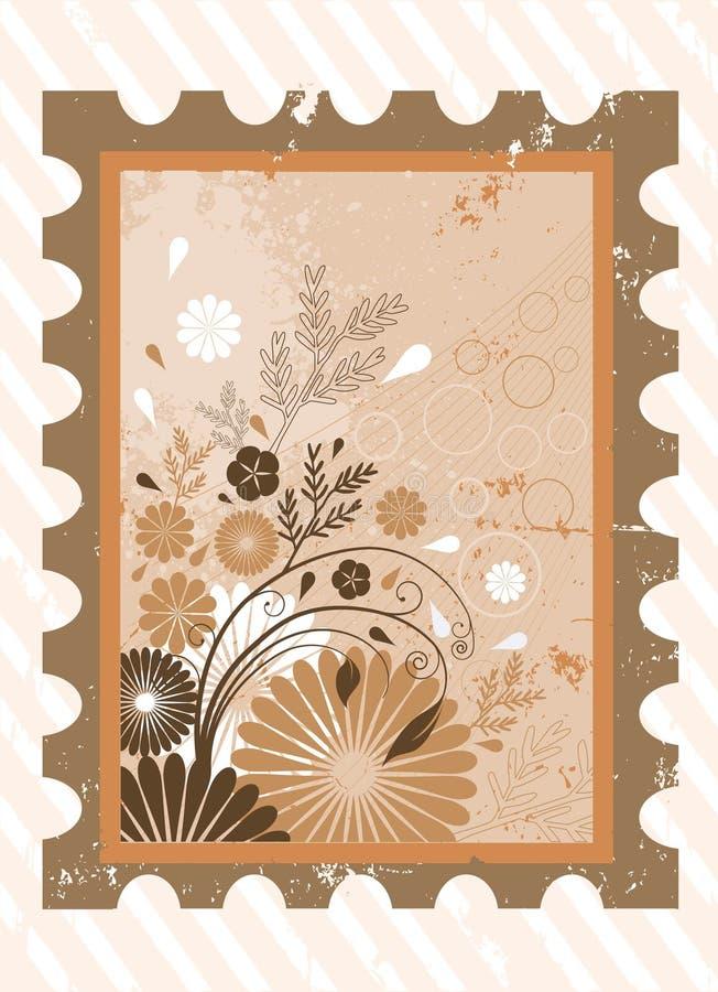 blom- ram för bakgrund royaltyfri illustrationer