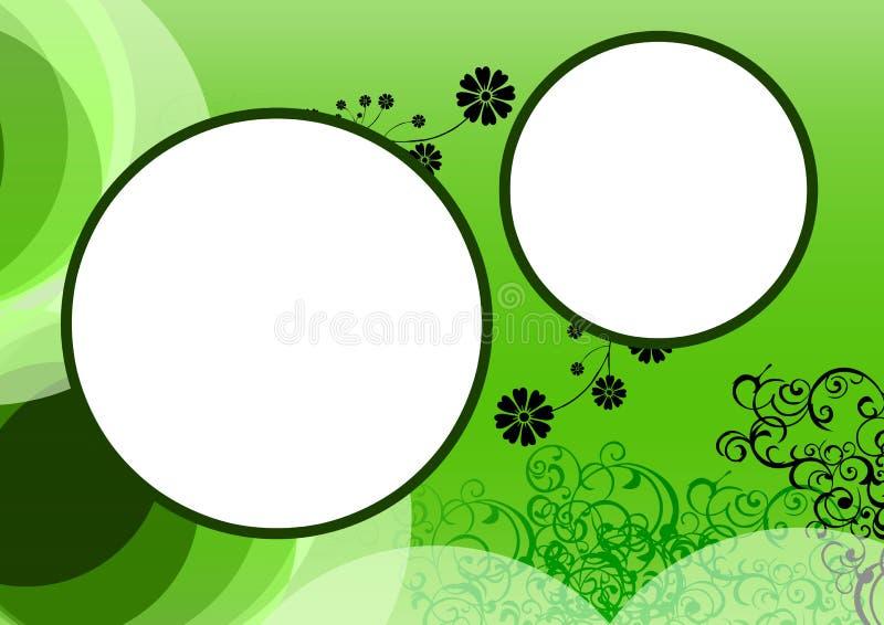 blom- ram för bakgrund vektor illustrationer