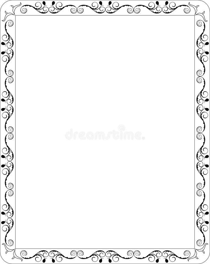 blom- ram för blank kant vektor illustrationer