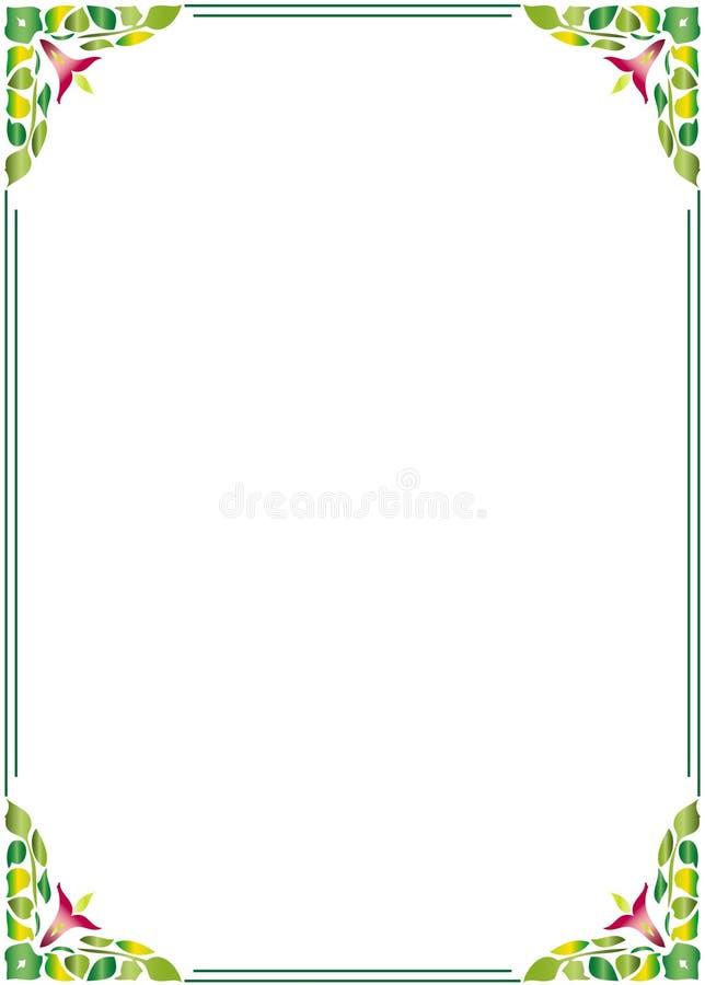 blom- ram för kant royaltyfri illustrationer