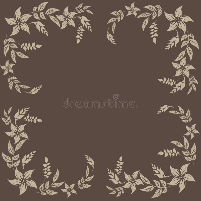 Blom- ram - illustration vektor illustrationer