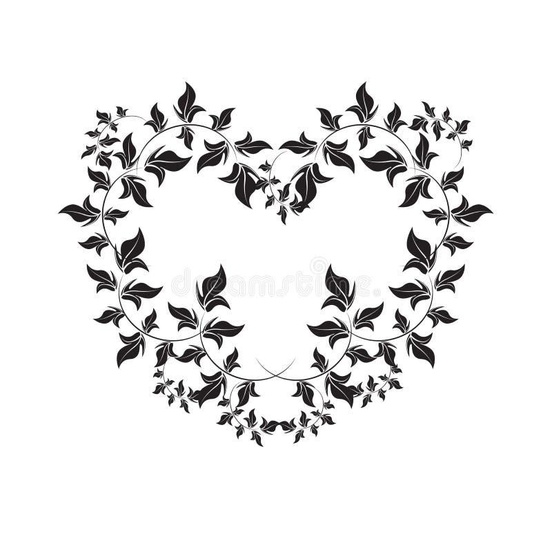 Blom- ram - illustration royaltyfri illustrationer