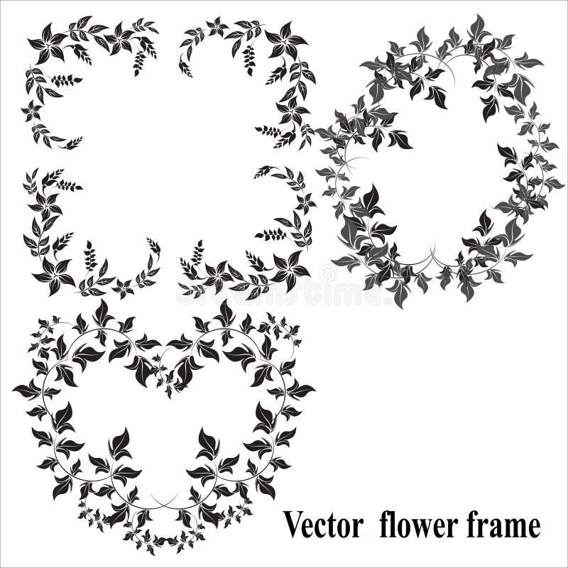 Blom- ram - illustration stock illustrationer
